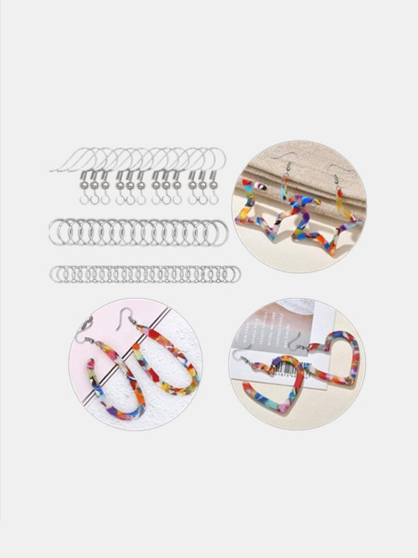 123 Pcs Resin Earring Molds Silicone Earring Molds Epoxy Jewelry Resin Molds Kit With Earring Hooks Jump Ring Jewelry Ma
