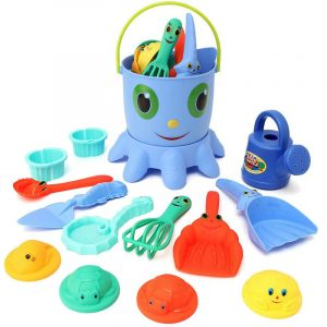 14PCS Fun Cute Playing Game Toy Sea Creature Shape Tools Sand Water Beach Indoor Outdoor Toy