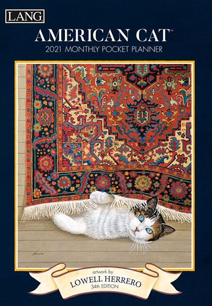 American Cat Monthly Pocket Planner by Lowell Herrero