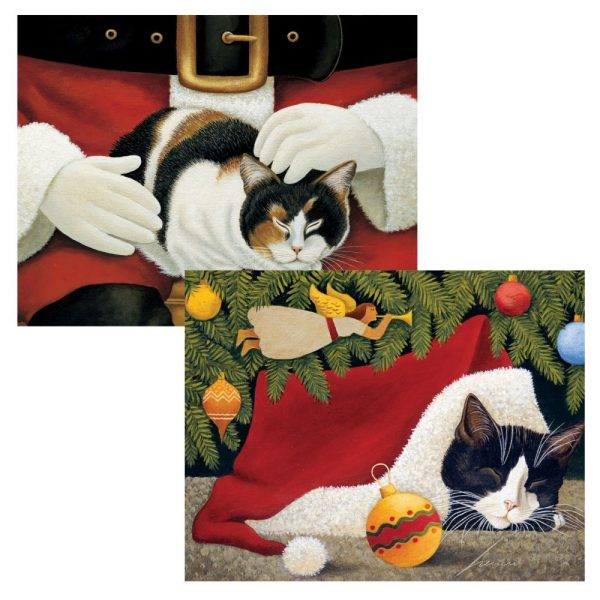 Furry Friend Assorted Boxed Christmas Cards (18 pack) w/ Decorative Box by Lowell Herrero