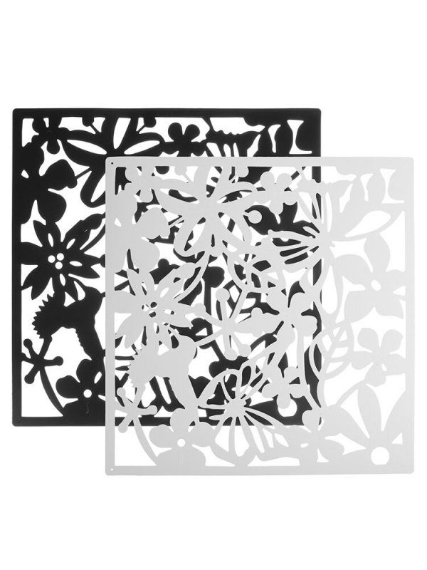 12pcs For Home Fashion Butterfly Bird Flower Hanging Screen Partition Divider Panel Room Curtain Home White/Black