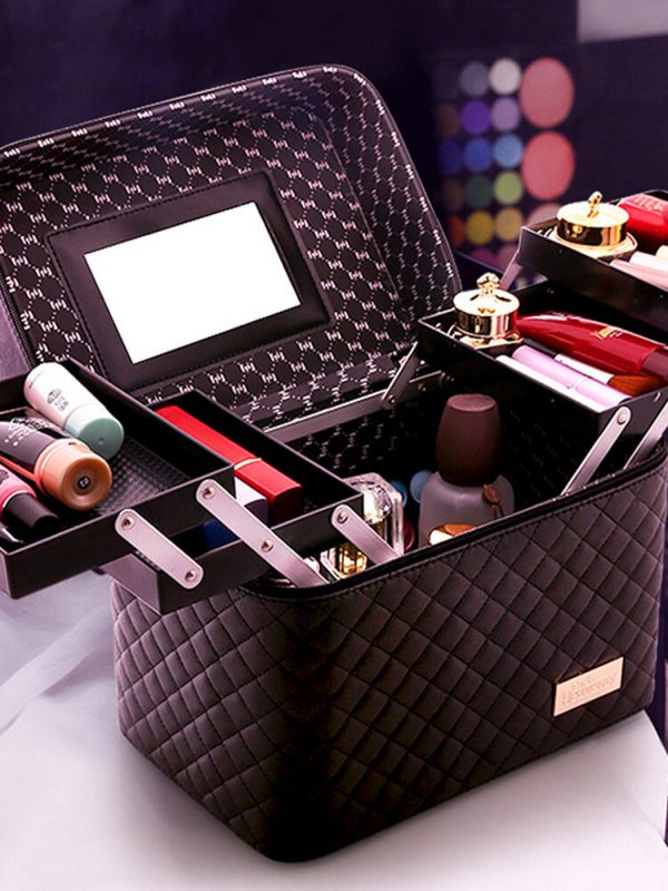Four-Layer Cosmetic Storage Bag Large-Capacity